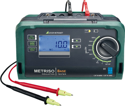 insulation tester / low-resistance / voltage / cabling