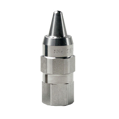 blow-off nozzle / compressed air / stainless steel / nickel-plated