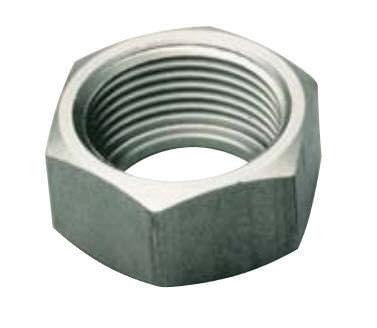 hexagonal locknut / brass / stainless steel