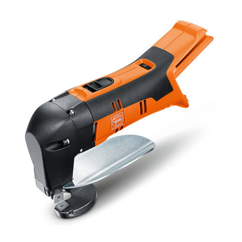electric shear / for metal sheets / strap / hand-held