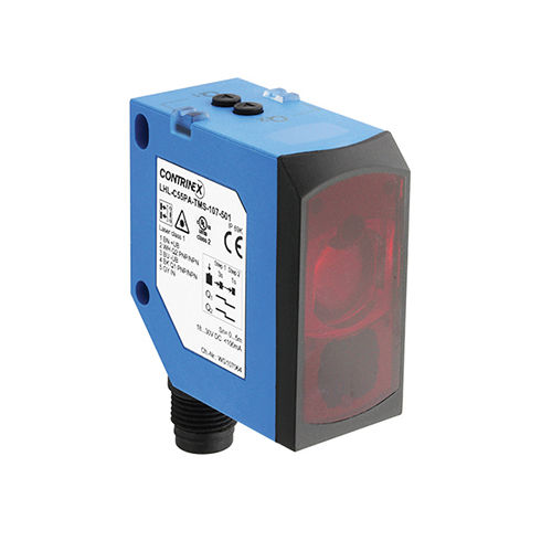 compact photoelectric sensor / with background suppression / cubic / laser