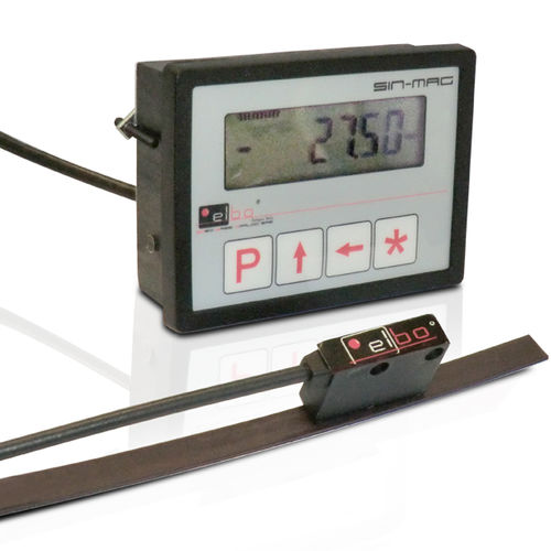 absolute linear encoder / magnetic / with digital display