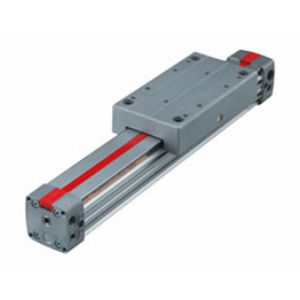 pneumatic cylinder / double-acting / rodless / precision