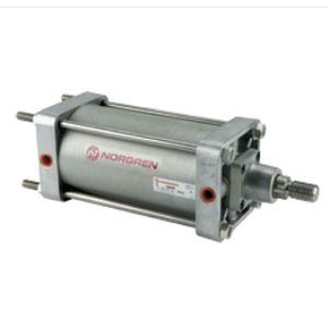 tie-rod cylinder / pneumatic / double-acting / with adjustable cushions