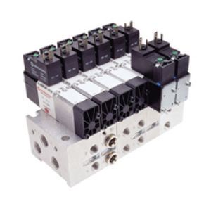 spool pneumatic directional control valve / electrically-operated / 5/2-way / compact