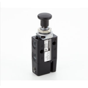 spool pneumatic directional control valve / manual / 3/2-way / for high flow rates