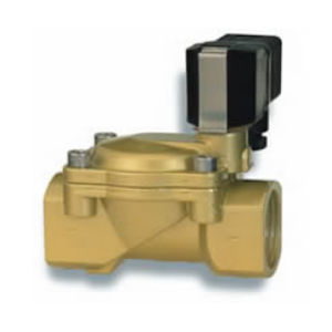 actuated solenoid valve / direct-operated / 2/2-way / normally closed