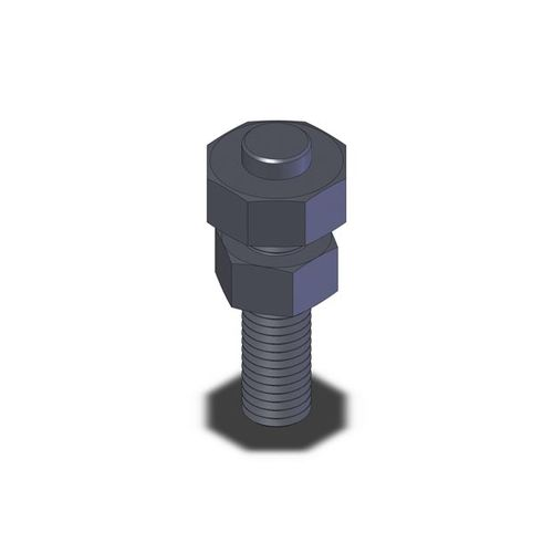locking bolt / clamping / with hexagonal head / steel