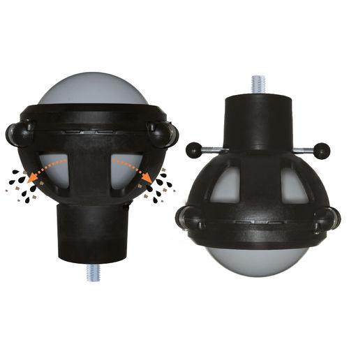 fixed caster / threaded stud / spherical / plastic