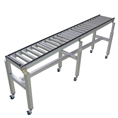 roller conveyor / for containers / carton / gravity