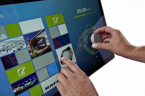 HMI with touch screen / panel-mount / VIA / control