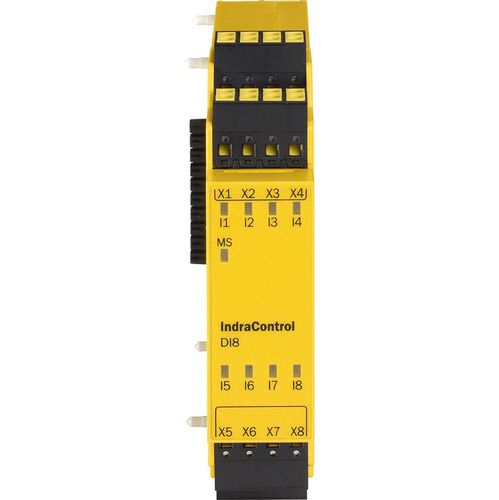 digital I O module / safety / 8-I/O / DIN rail