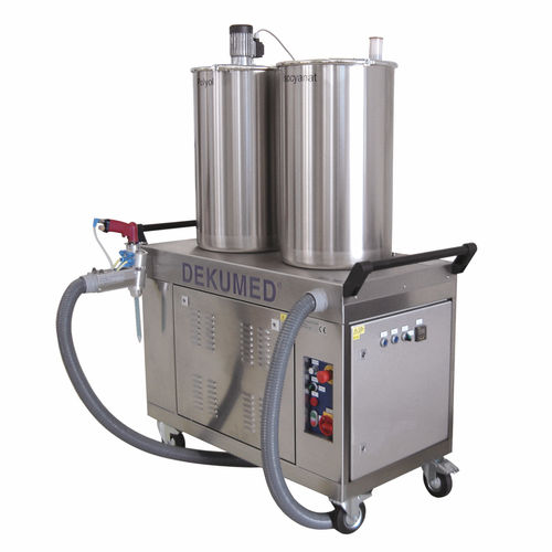 mixer-dispenser with gear pump / resin / two-component / high-precision