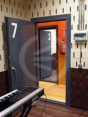 swing door / metal / industrial / indoor