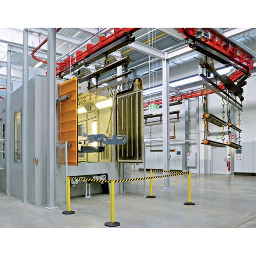 suspended load shot blasting machine