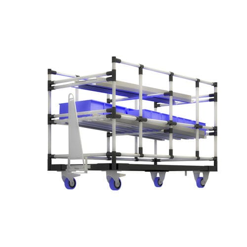 handling cart / metal / shelf / for containers