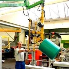 pneumatic manipulator / with orbital end effector / positioning / loading