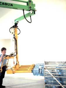 pneumatic manipulator / with gripping tool / positioning / loading