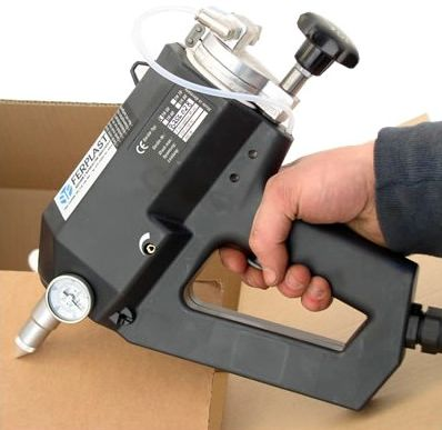 dispensing gun / hot-melt adhesive / manual / electropneumatic