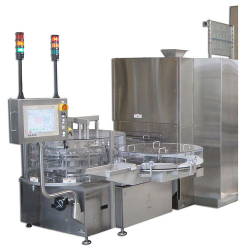 rotary washing unit / ultrasonic / automated / for pharmaceutical applications