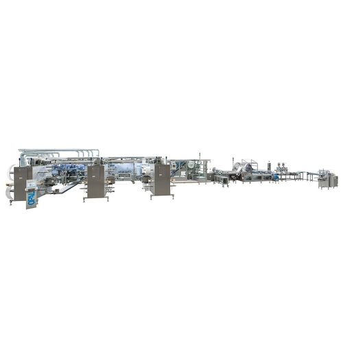 dressing packaging line / fully-automatic / for the pharmaceutical industry