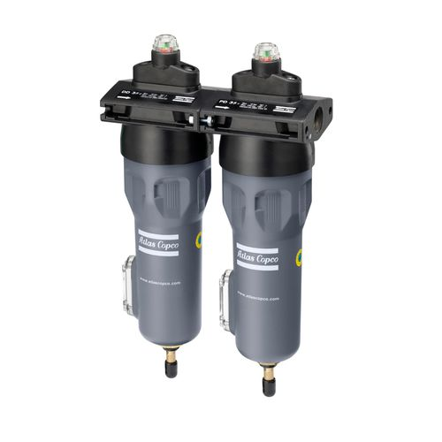 compressed air filter / cartridge / dust / dry