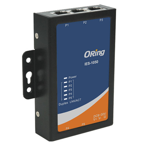 unmanaged ethernet switch / 5 ports / DIN rail / panel-mount