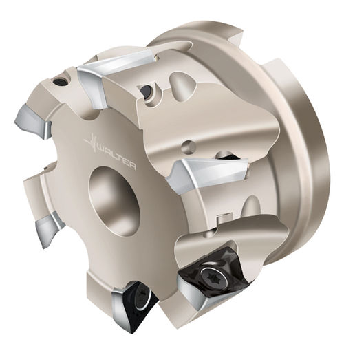 roughing milling cutter / shell-end / with positive insert / finishing