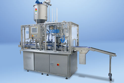 filling system for the food industry / container / for jars / fully-automatic