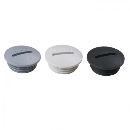 round plug / threaded / plastic / O-ring