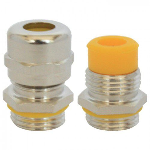 nickel-plated brass cable gland / stainless steel / IP68 / halogen-free