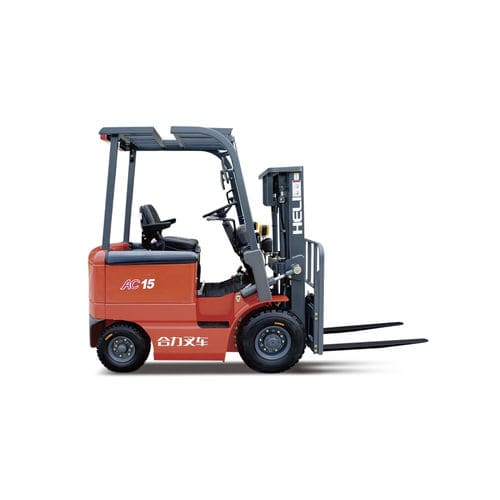 electric forklift / ride-on / counterbalanced / 4-wheel