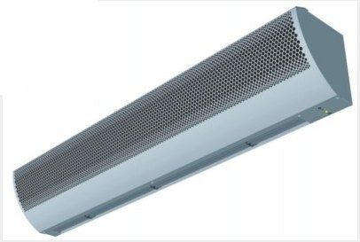 hot air curtain / horizontal / for cold storage / with electric heating