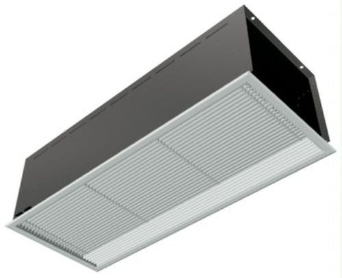 hot air curtain / horizontal / with electric heating