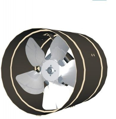 axial fan / ventilation / direct-drive / duct