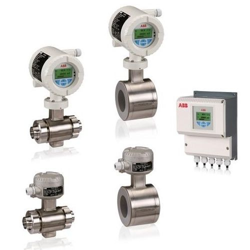 electromagnetic flow meter / for liquids / in-line / stainless steel