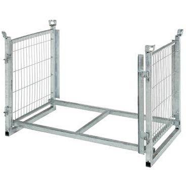 metal pallet box / transport / folding