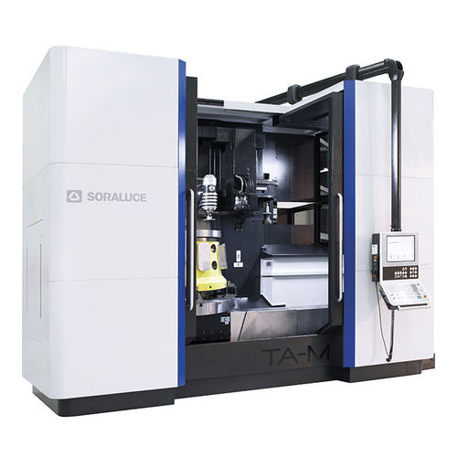 CNC milling-turning center / vertical / rotating table / fixed-bed