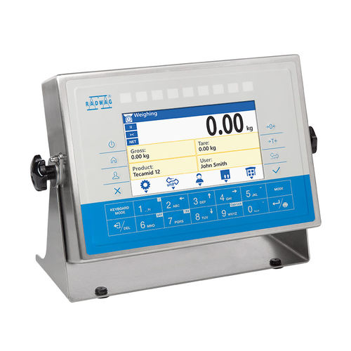 LCD display weighing terminal / benchtop / wall-mount / IP68
