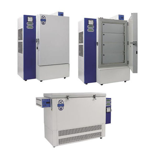 laboratory freezer / for blood plasma / cooling / vertical