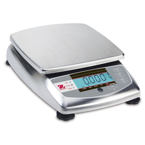 benchtop scale / precision / with LCD display / stainless steel