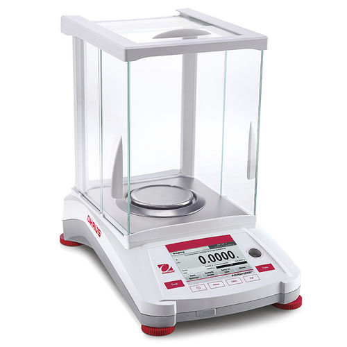 laboratory balance / analytical / with touch screen / stainless steel pan