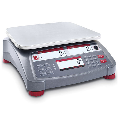 counting scale / with LCD display / stainless steel / industrial
