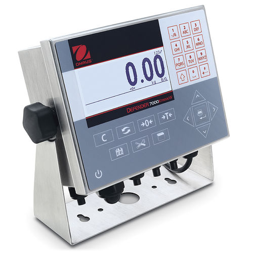 LCD display weight indicator / panel-mount / IP66 / stainless steel