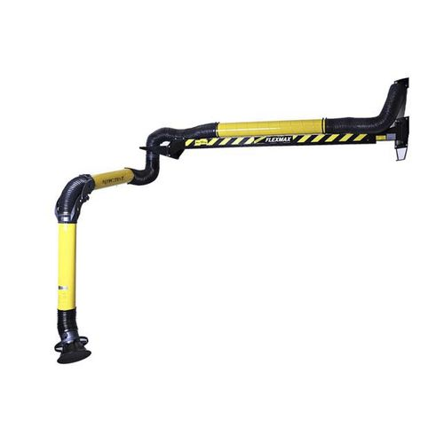fixed extraction arm / flexible / for smoke / dust