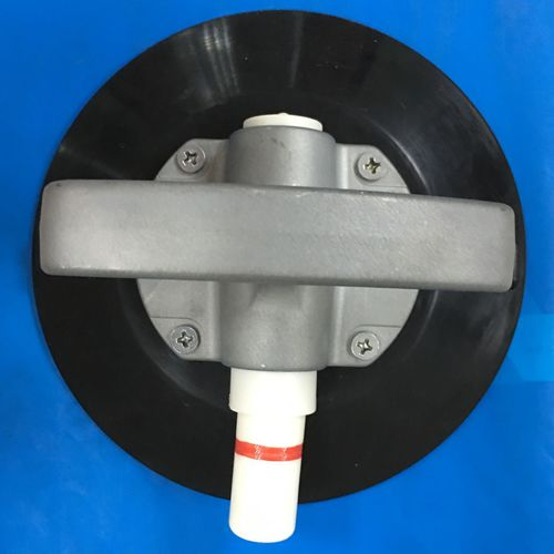 circular suction cup / with pump / for the automotive industry / with metal handle