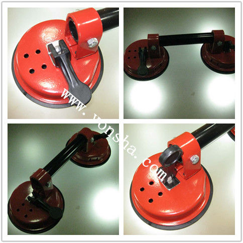 round vacuum suction cup / with metal handle / for vacuum / lifting