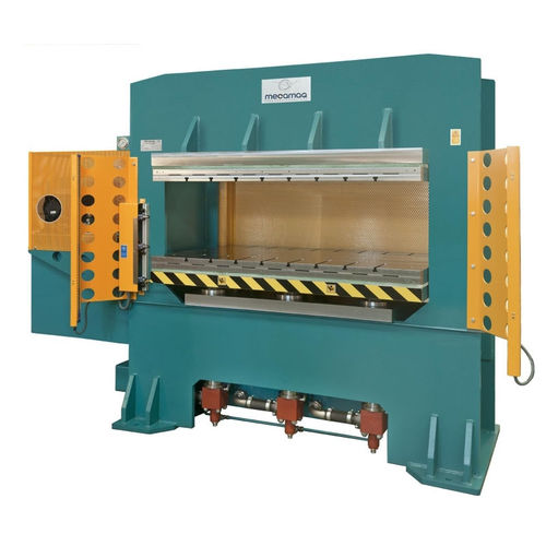 hydraulic press / compression / double-action / with heating plates