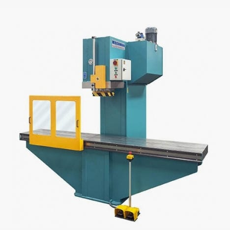 hydraulic press / punching / double-action / C-frame