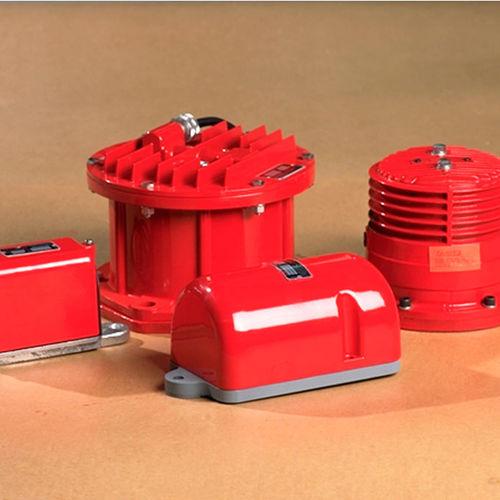 electromagnetic vibrator / for hoppers / for silos / external